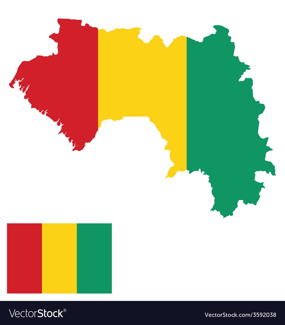 Guinea flag vector | Price: 1 Credit (USD $1)