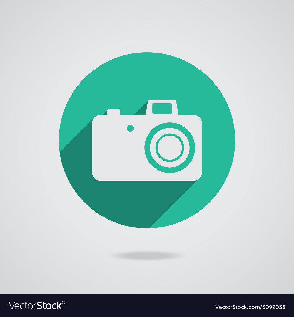Hipster white photo camera icon element vector | Price: 1 Credit (USD $1)