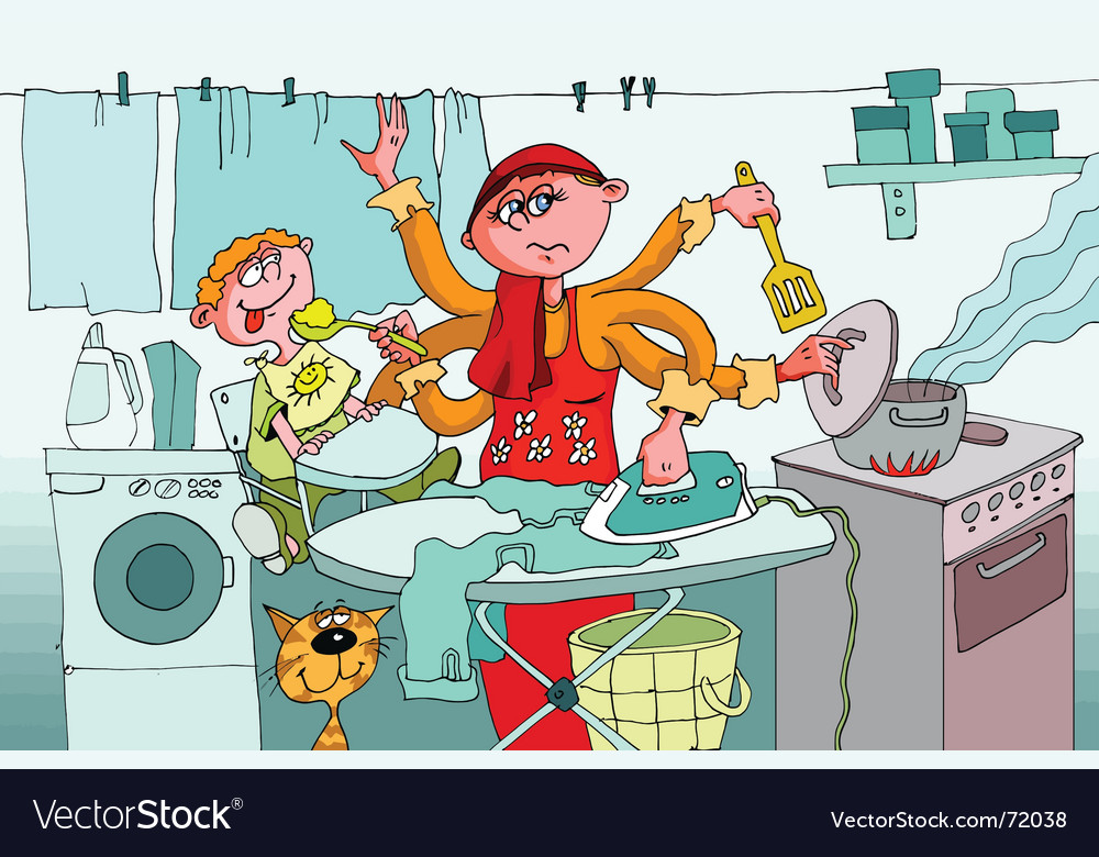 Housewife vector | Price: 3 Credit (USD $3)