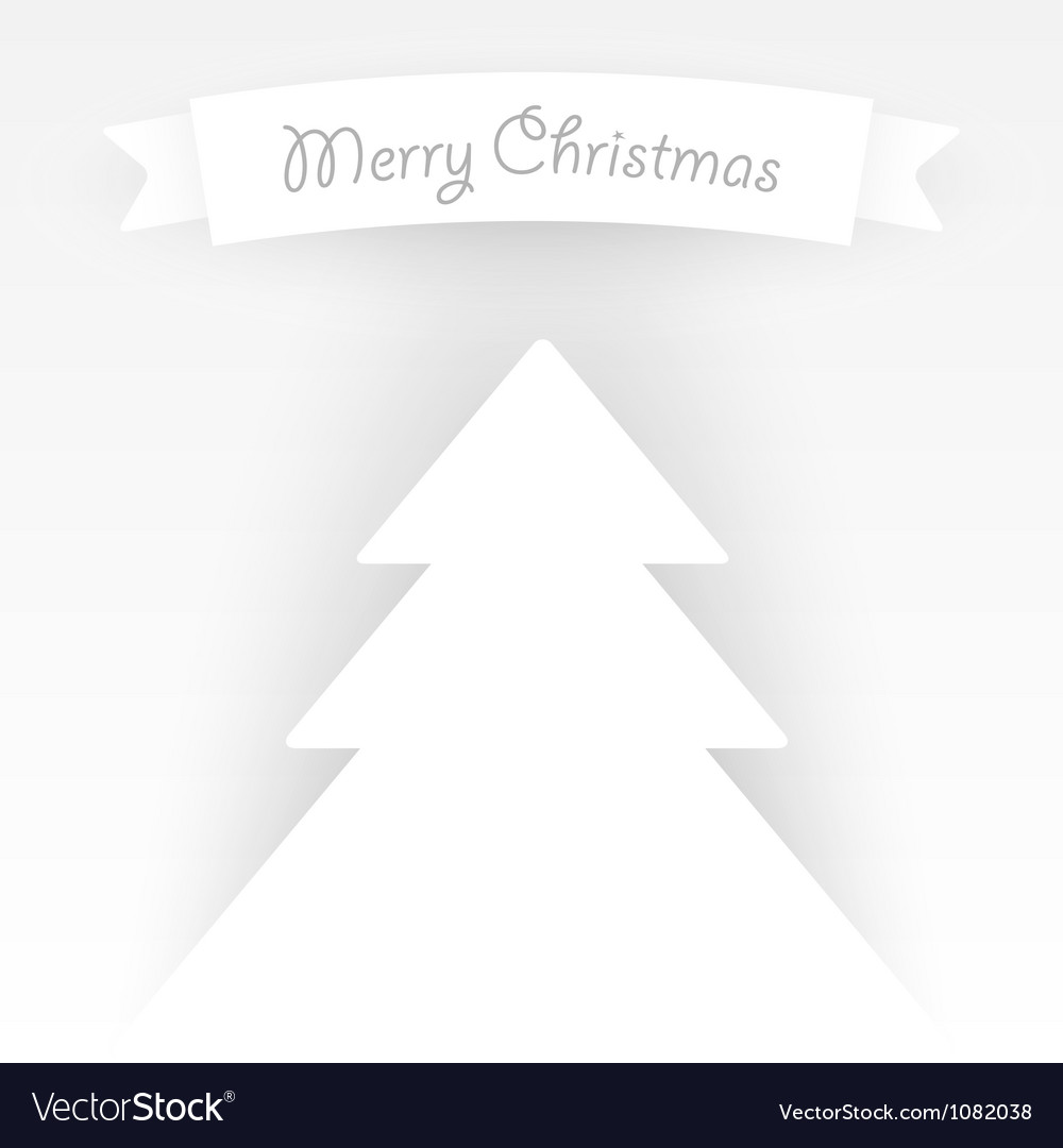 Paper christmas tree applique vector | Price: 1 Credit (USD $1)