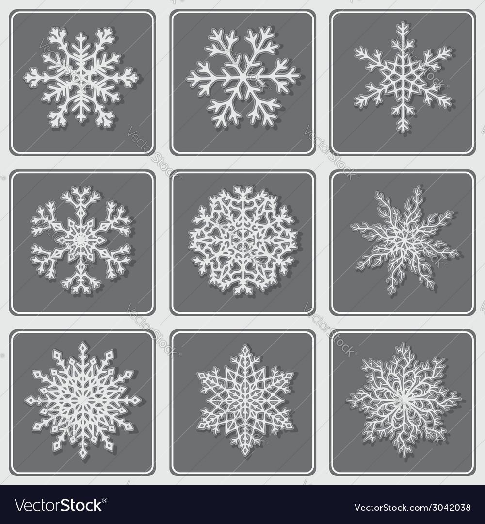 Set of beautiful paper snowflakes vector | Price: 1 Credit (USD $1)