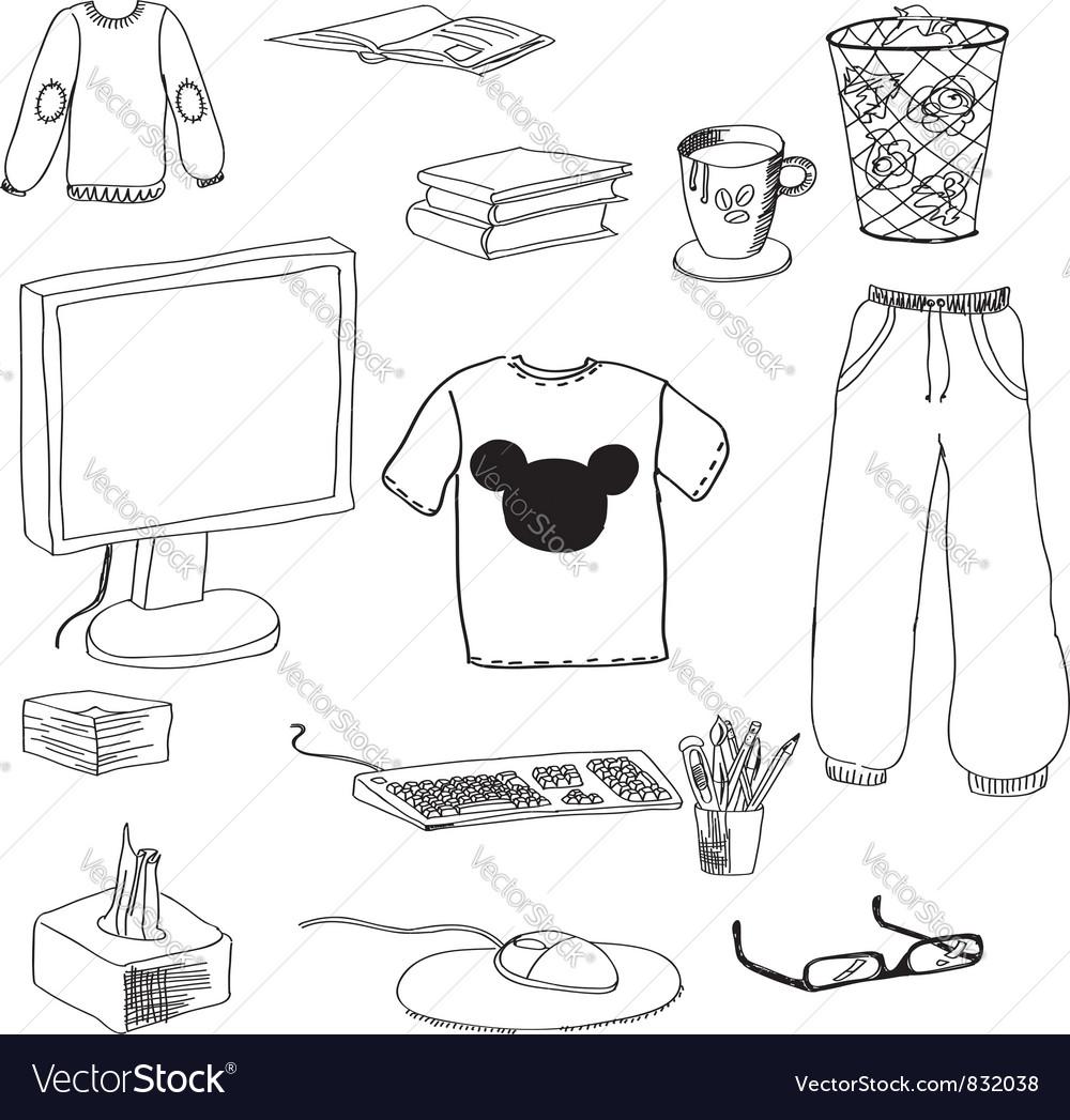 Student belongings vector   Price: 1 Credit (USD $1)
