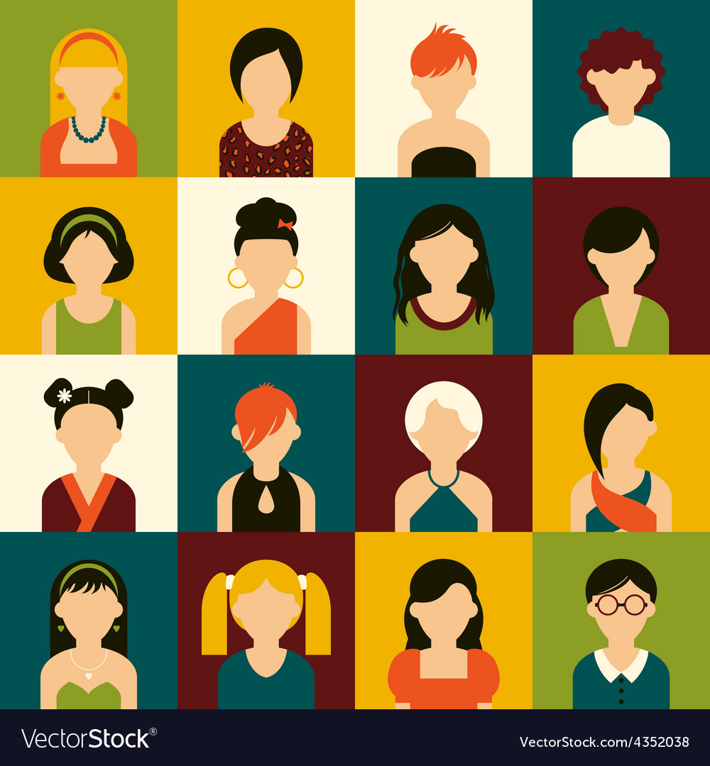 Women icon set vector | Price: 1 Credit (USD $1)