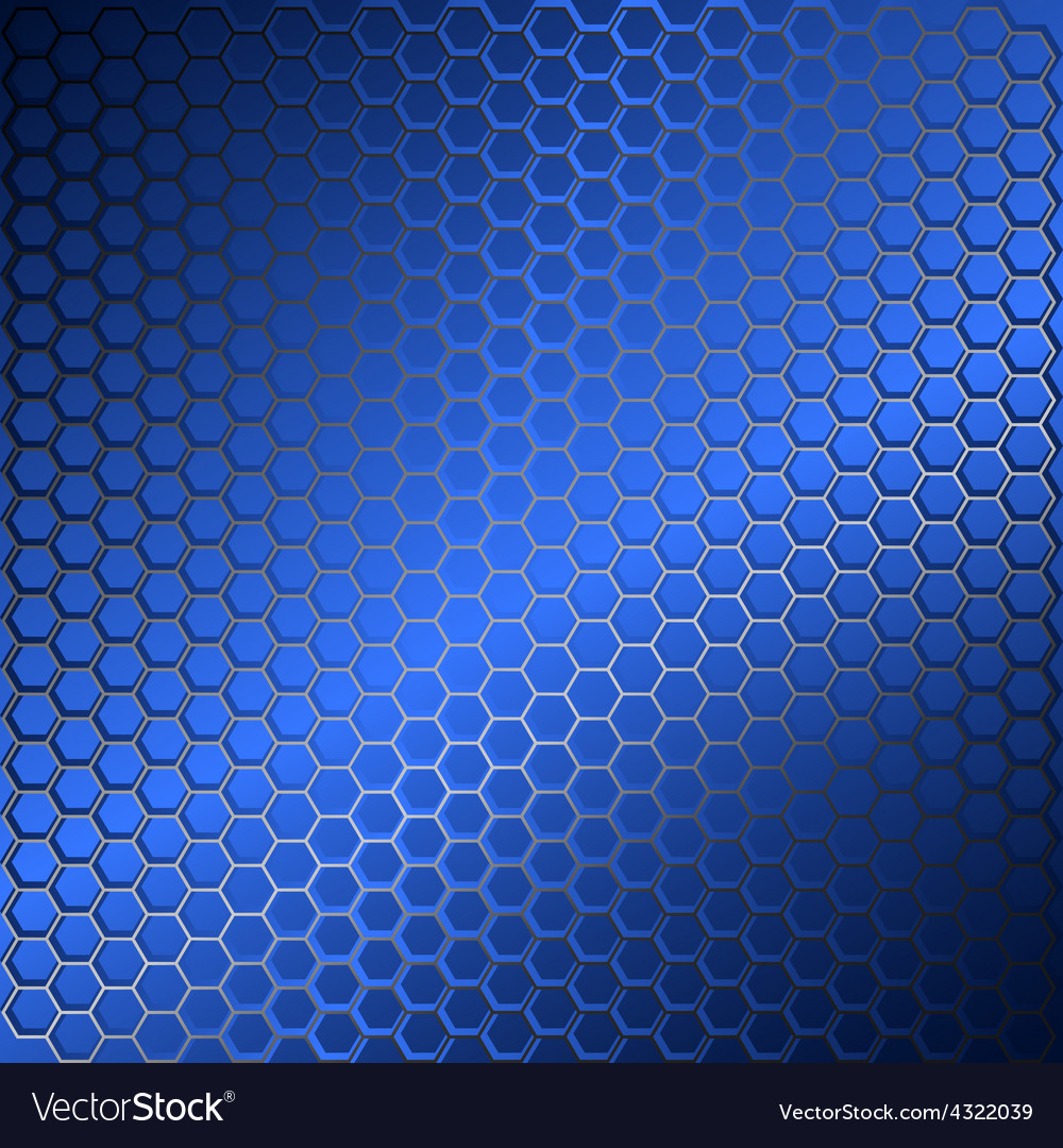 Background with metal grid of hexagons vector | Price: 1 Credit (USD $1)