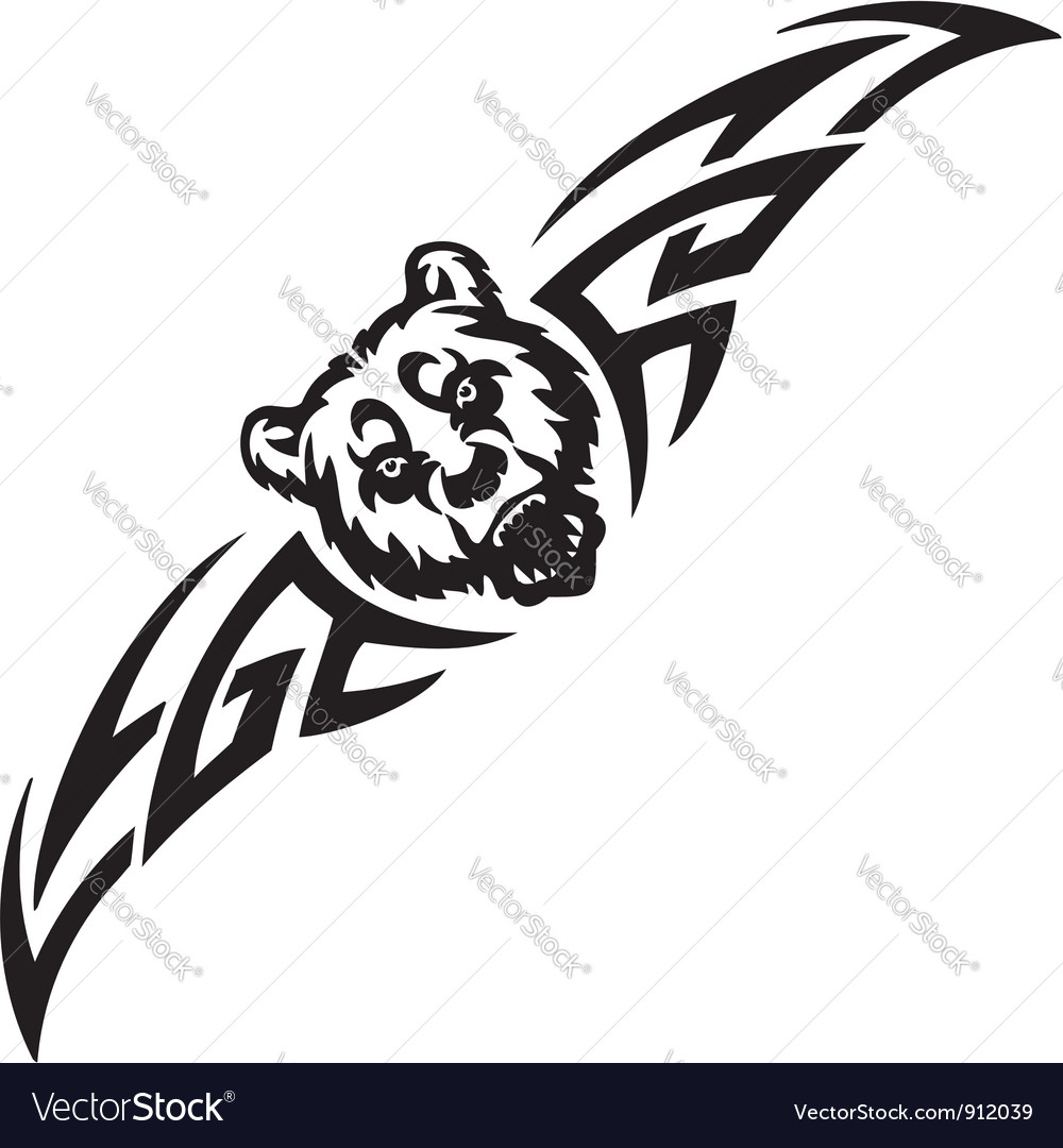 Bear and symmetric tribals  vector