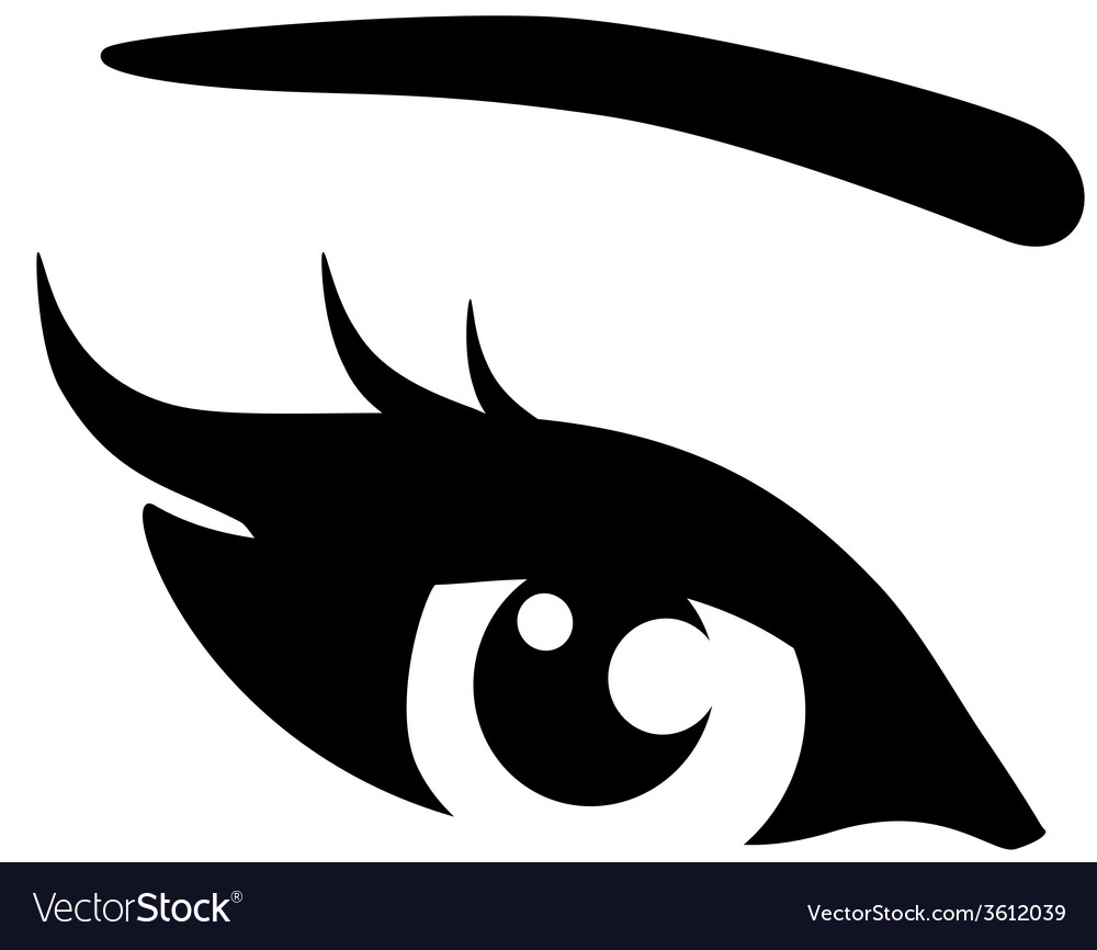 Black woman eye vector | Price: 1 Credit (USD $1)