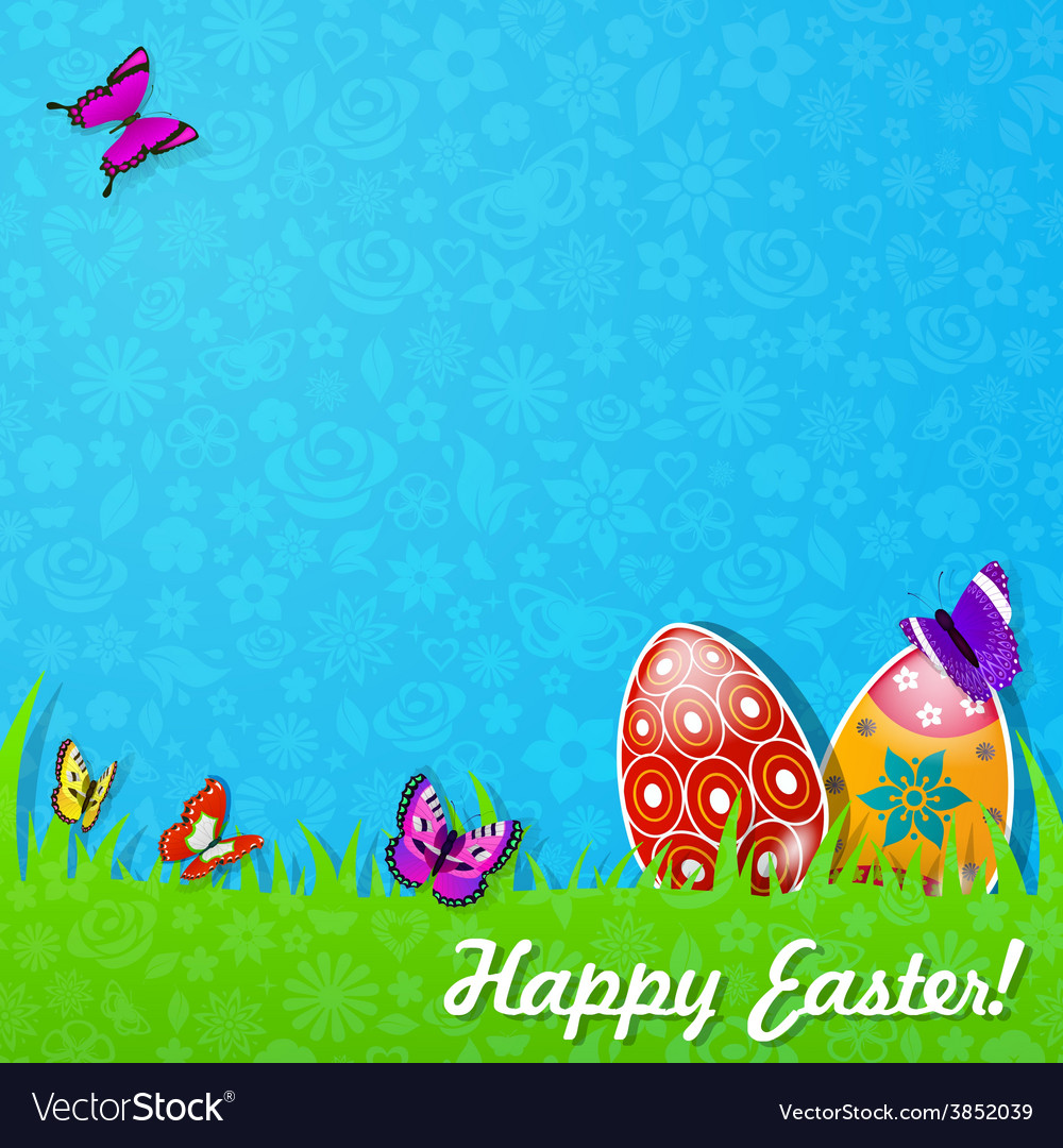 Easter background made of paper vector | Price: 1 Credit (USD $1)