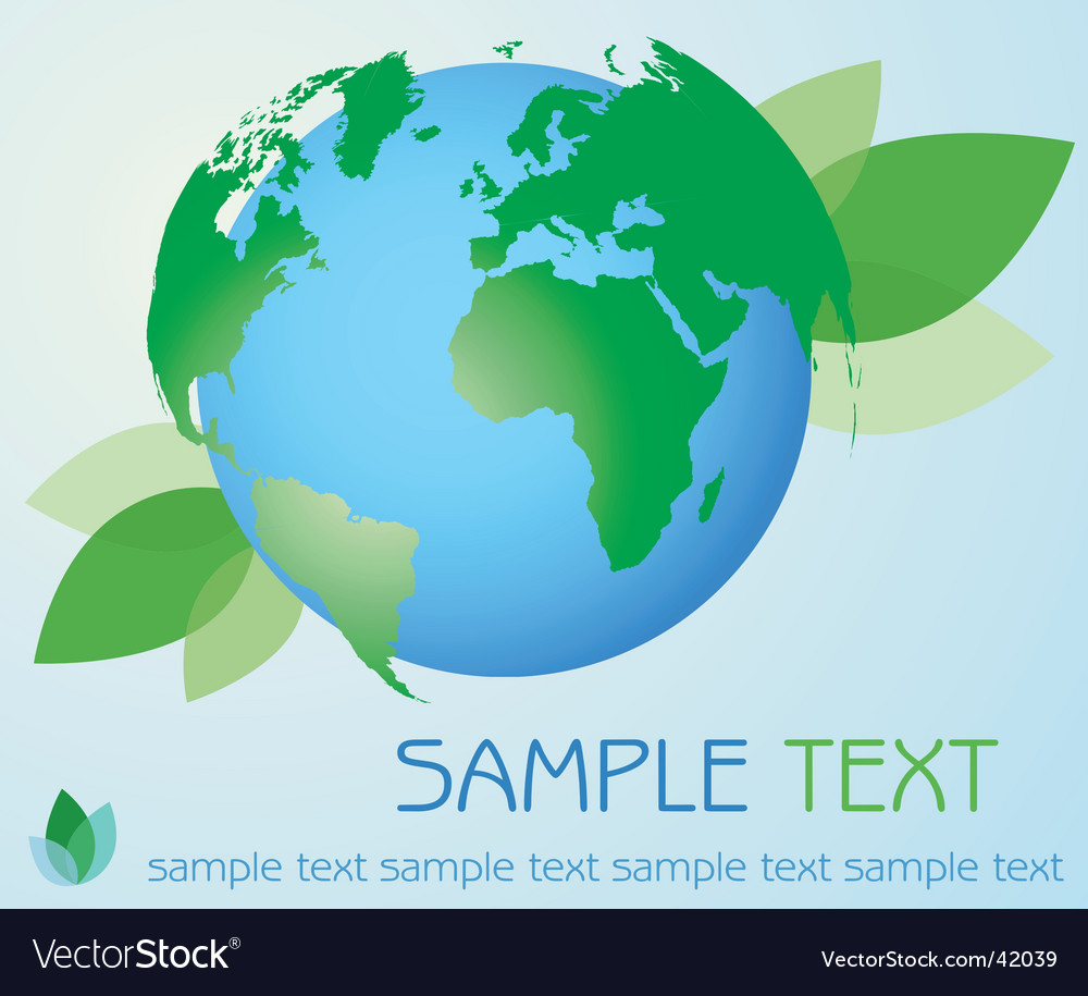 Eco earth vector | Price: 1 Credit (USD $1)