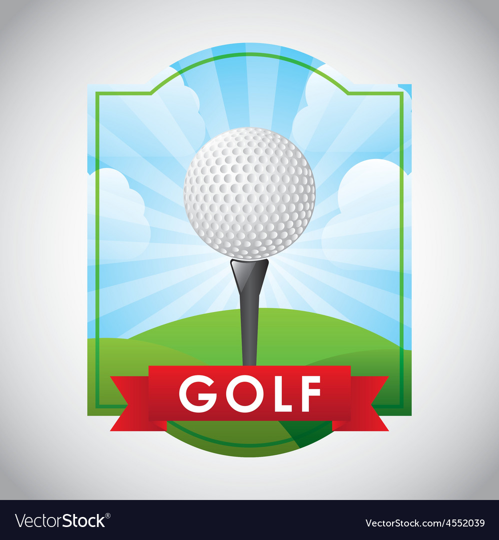 Golf club emblem vector | Price: 1 Credit (USD $1)