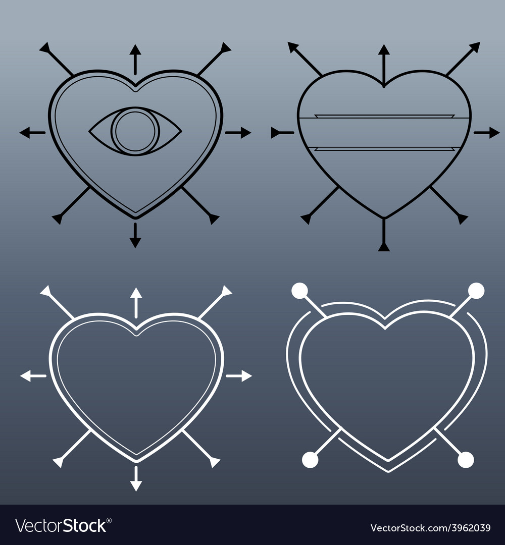 Hipster heart vector | Price: 1 Credit (USD $1)