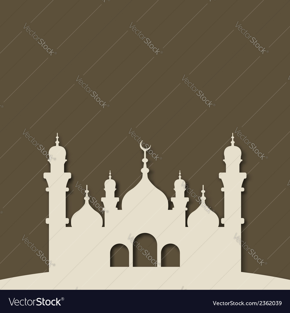 Mosque islamic background vector | Price: 1 Credit (USD $1)
