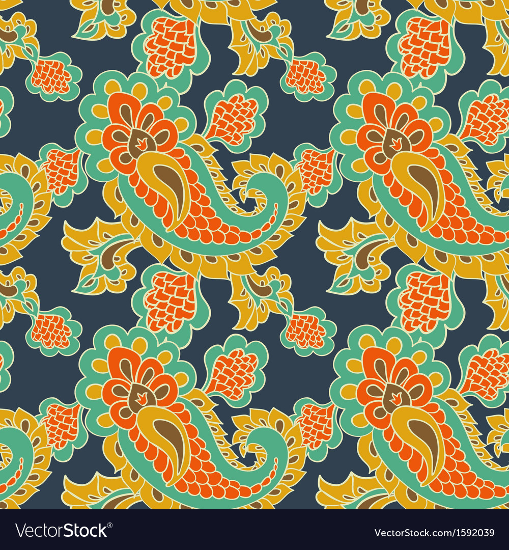 Paisley seamless background vector | Price: 1 Credit (USD $1)