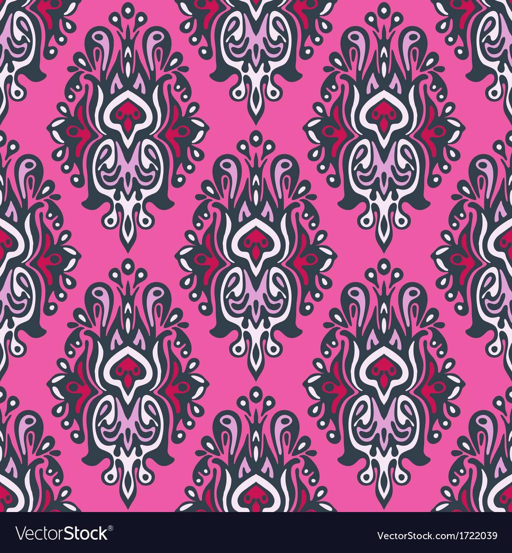 Royal seamless pattern damask vector | Price: 1 Credit (USD $1)