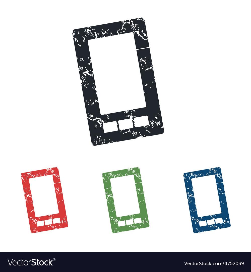 Smartphone grunge icon set vector   Price: 1 Credit (USD $1)