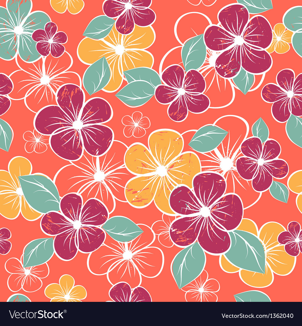 Abstract seamless floral pattern colorful vector | Price: 1 Credit (USD $1)