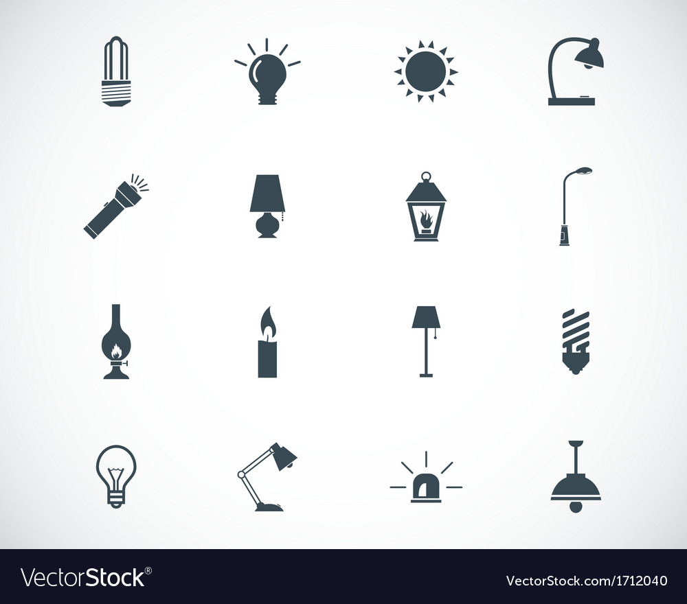 Black light icons set vector | Price: 1 Credit (USD $1)