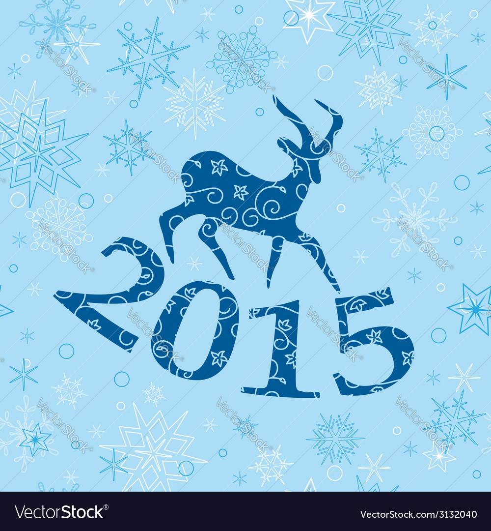 Blue christmas background with goat vector | Price: 1 Credit (USD $1)
