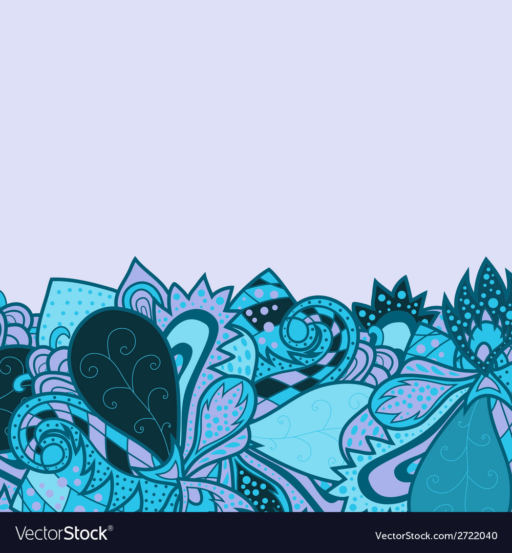 Border with decorative elements vector | Price: 1 Credit (USD $1)