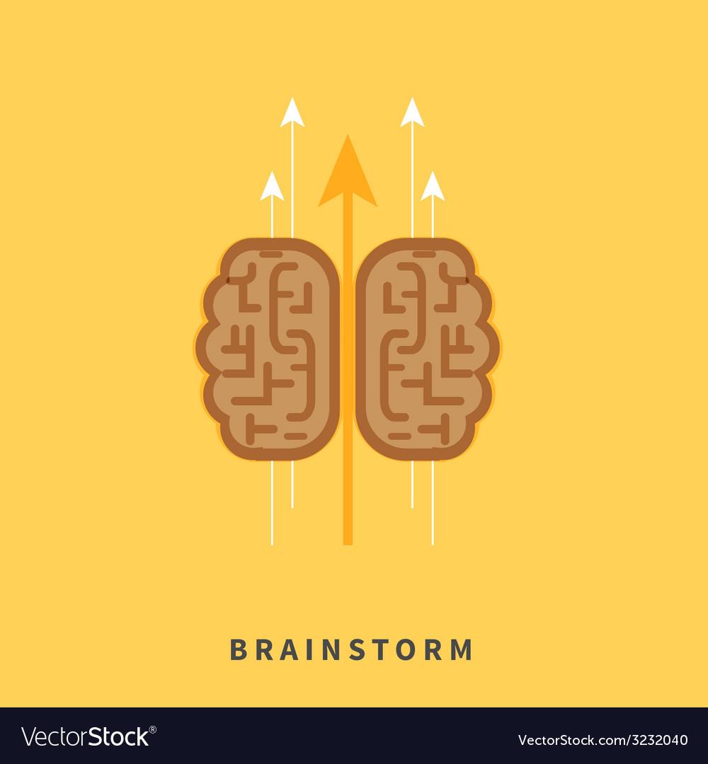 Brainstorm headwork concept vector | Price: 1 Credit (USD $1)