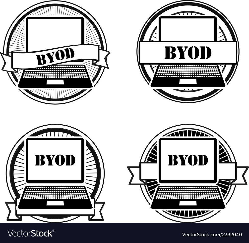Byod black and white stamps vector | Price: 1 Credit (USD $1)