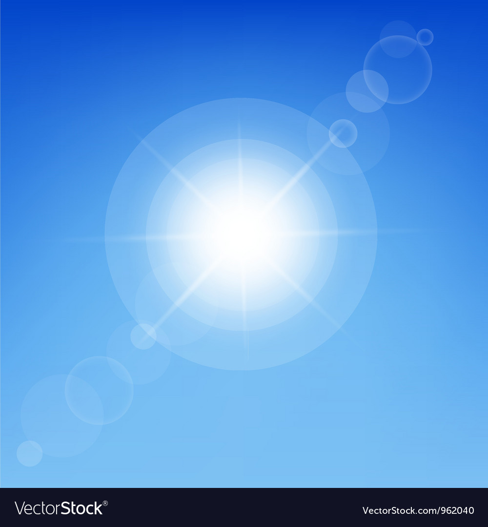 Clear sunny sky vector   Price: 1 Credit (USD $1)