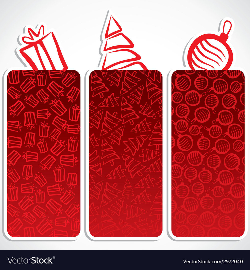 Merry christmas small banner vector | Price: 1 Credit (USD $1)