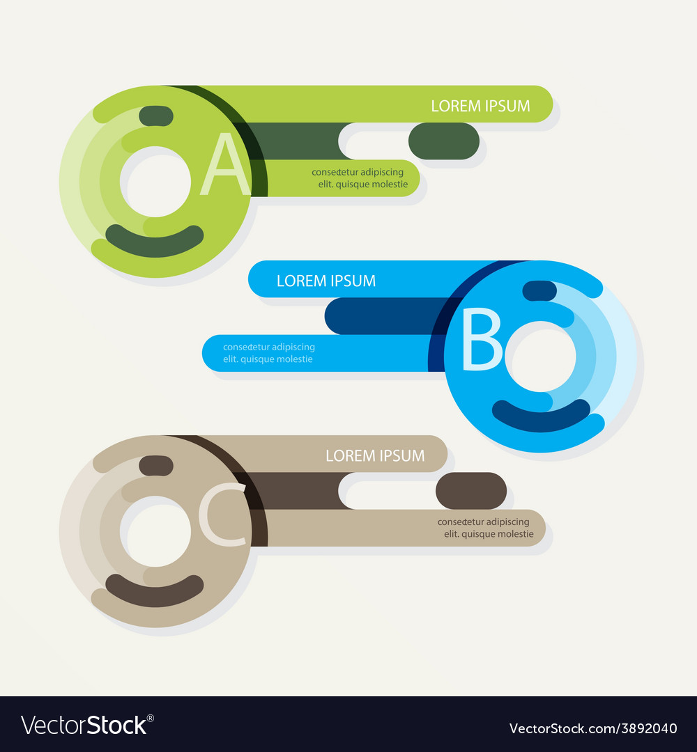 Progress banners with ribbon colorful tags vector   Price: 1 Credit (USD $1)