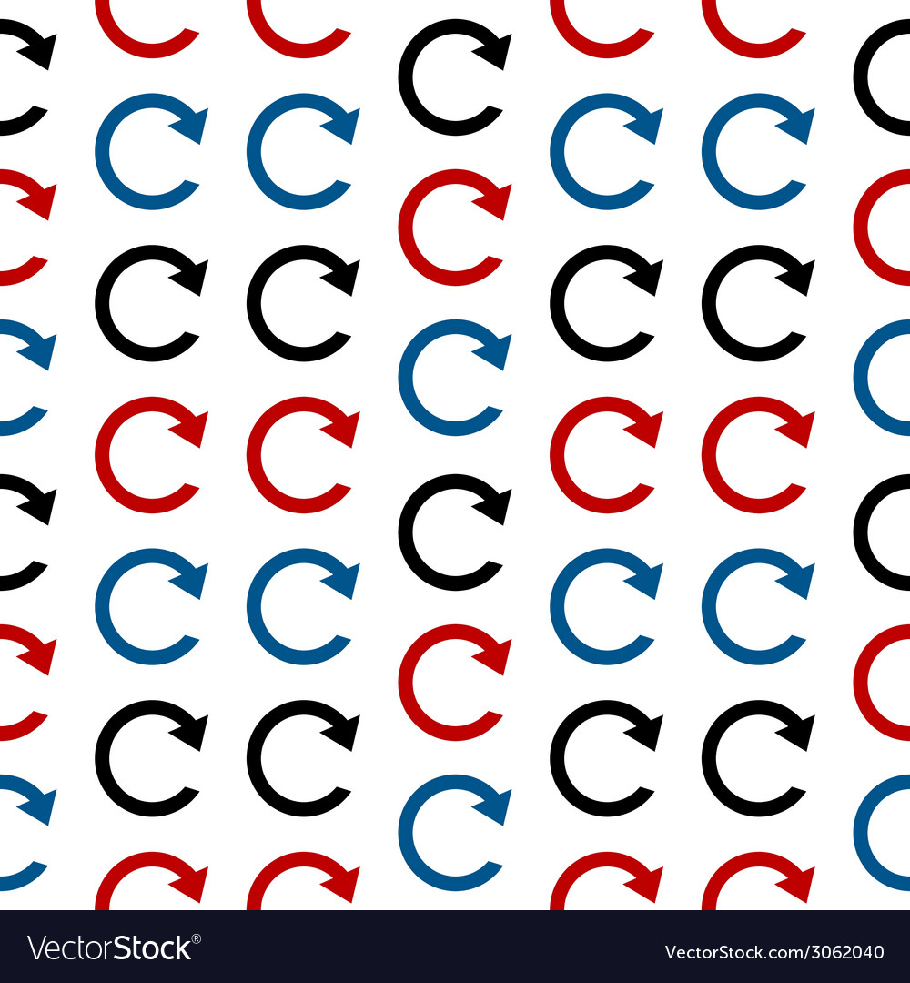 Repeat symbol seamless pattern vector | Price: 1 Credit (USD $1)