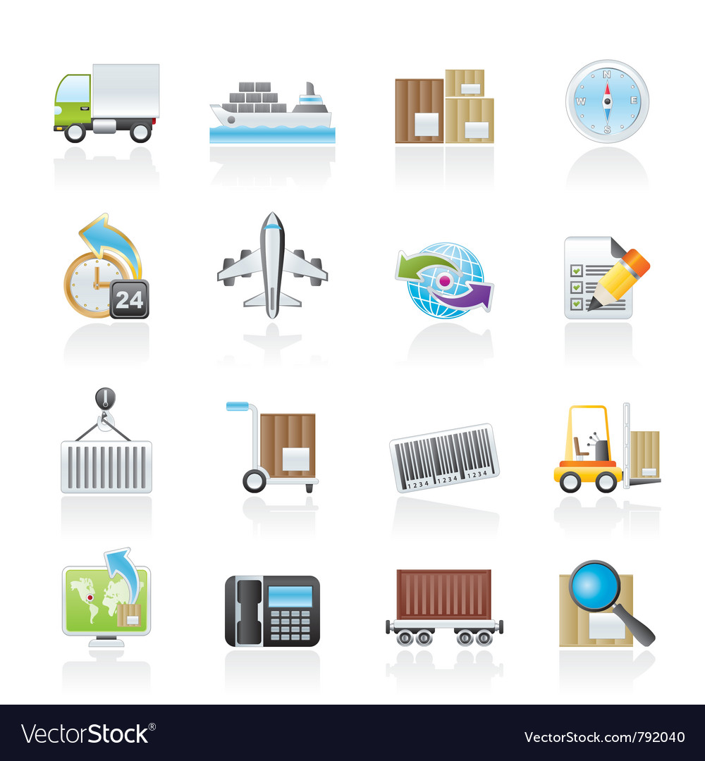 Shipping and logistics icons vector | Price: 3 Credit (USD $3)
