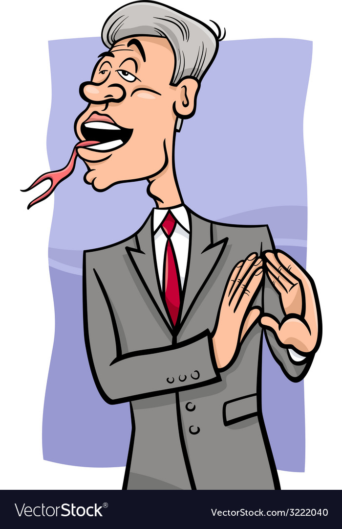 Speaking with forked tongue cartoon vector | Price: 1 Credit (USD $1)