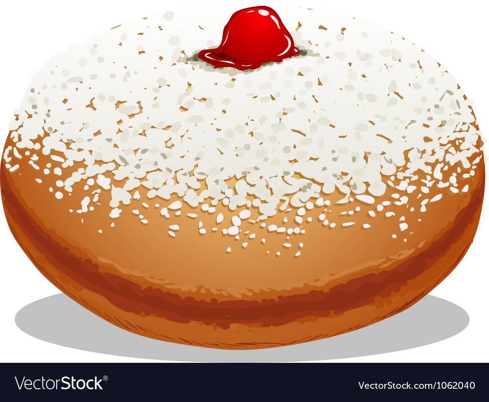 Sufganiyah hanukkah donut vector | Price: 1 Credit (USD $1)