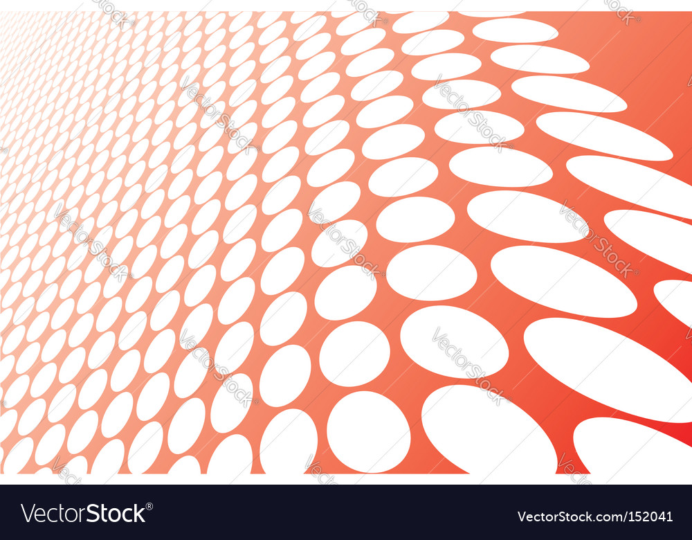 Abstract red wavy circles background vector | Price: 1 Credit (USD $1)