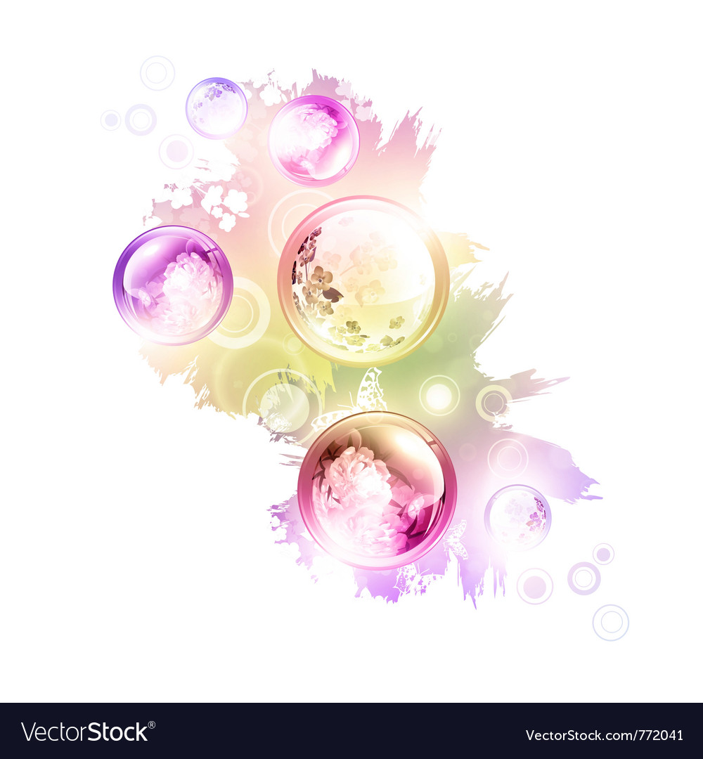 Abstract summer decorationwers vector | Price: 3 Credit (USD $3)