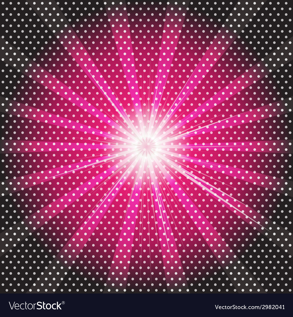 Burst rays dark purple background with halftone vector | Price: 1 Credit (USD $1)