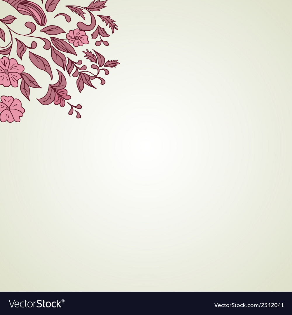 Hand drawing floral background vector | Price: 1 Credit (USD $1)
