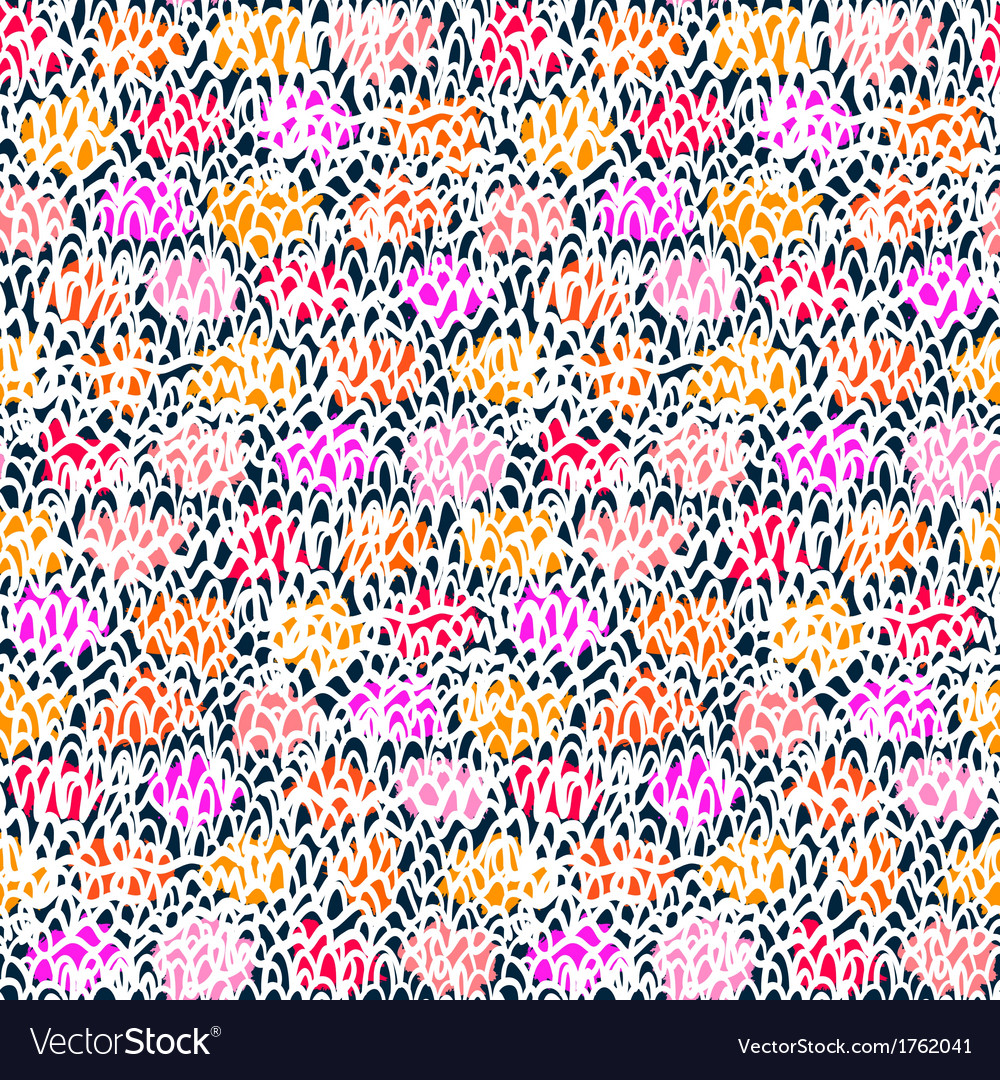 Hand drawn pattern with short brush strokes vector | Price: 1 Credit (USD $1)