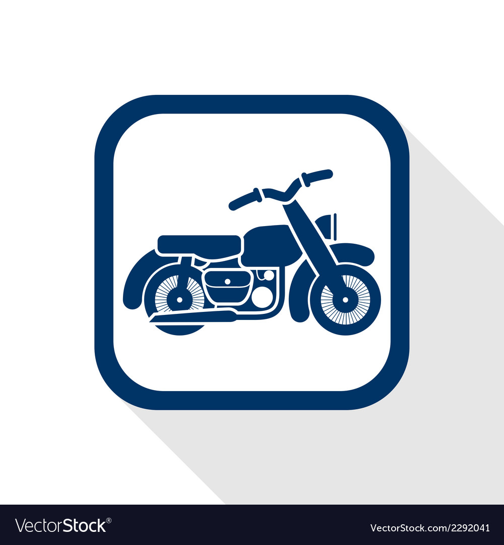 Motorcycle flat icon vector | Price: 1 Credit (USD $1)