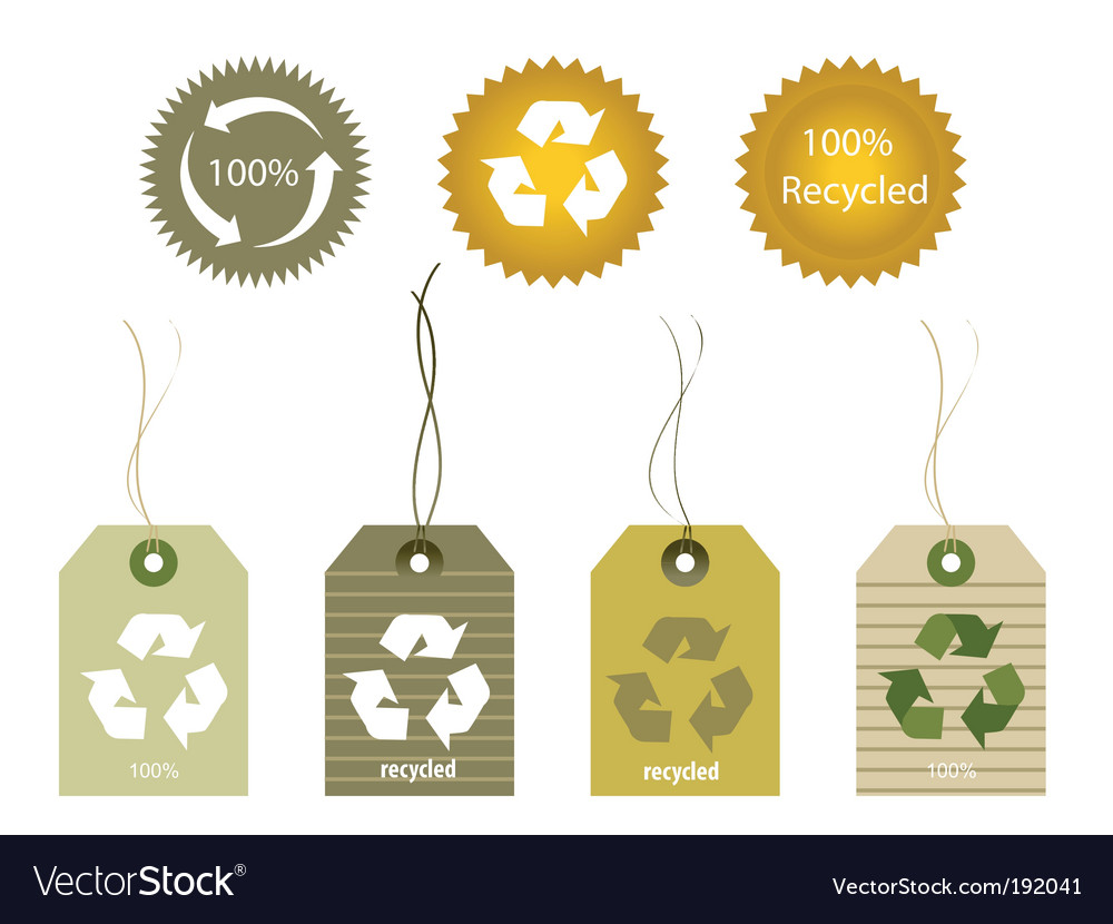 Recycled tags vector | Price: 1 Credit (USD $1)