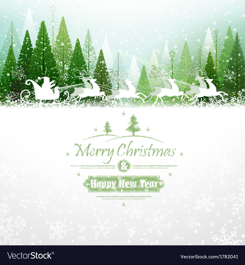 Santa claus with reindeer vector | Price: 1 Credit (USD $1)