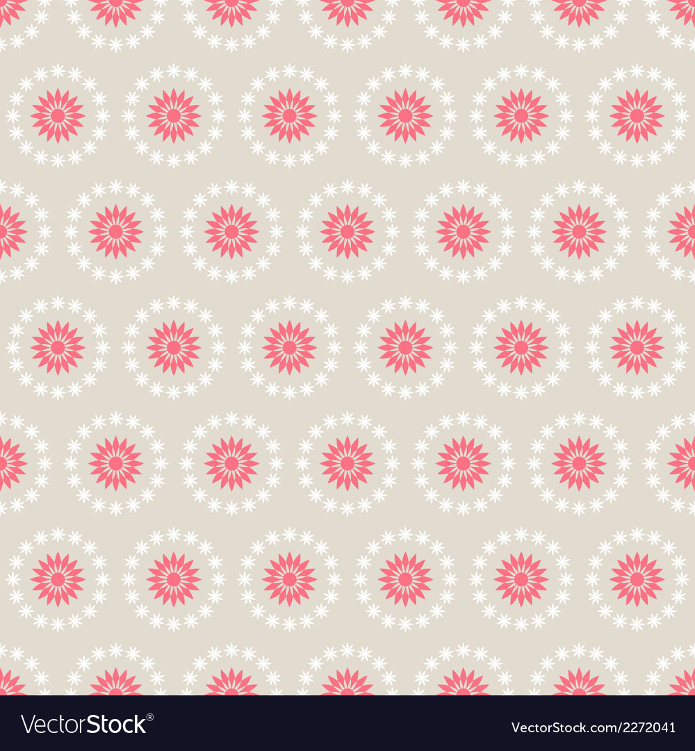 Seamless pattern of abstract flowers vector | Price: 1 Credit (USD $1)