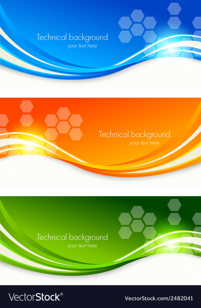 Set of colourful banners vector | Price: 1 Credit (USD $1)
