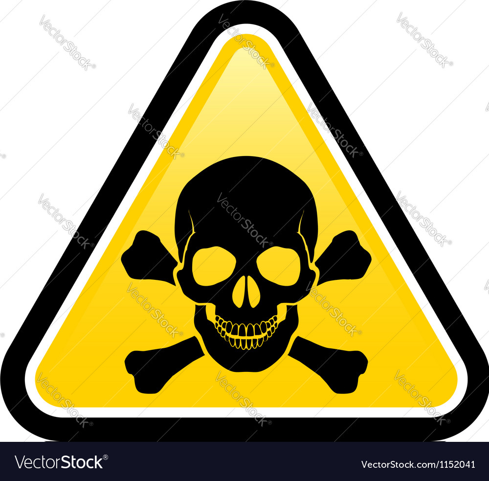 Skull danger signs vector | Price: 1 Credit (USD $1)