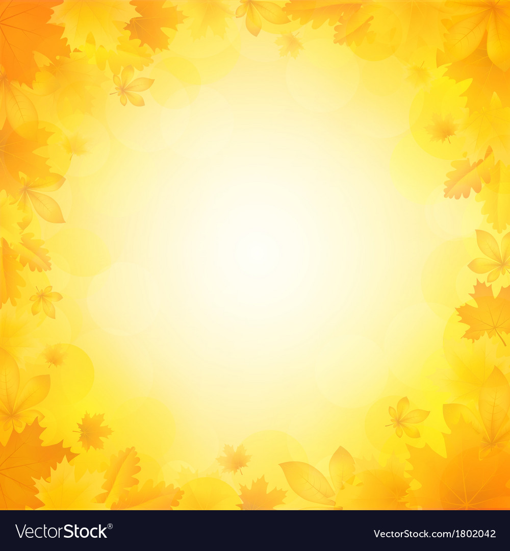 Autumn background of leaves vector | Price: 1 Credit (USD $1)