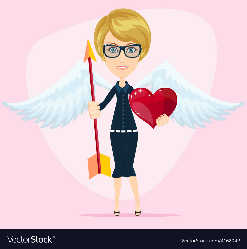 Beautiful girl cupid vector | Price: 1 Credit (USD $1)