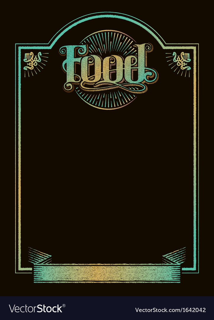 Chalkboard calligraphy food menu banner vector | Price: 1 Credit (USD $1)