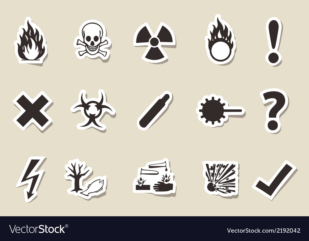 Danger icon old style vector | Price: 1 Credit (USD $1)