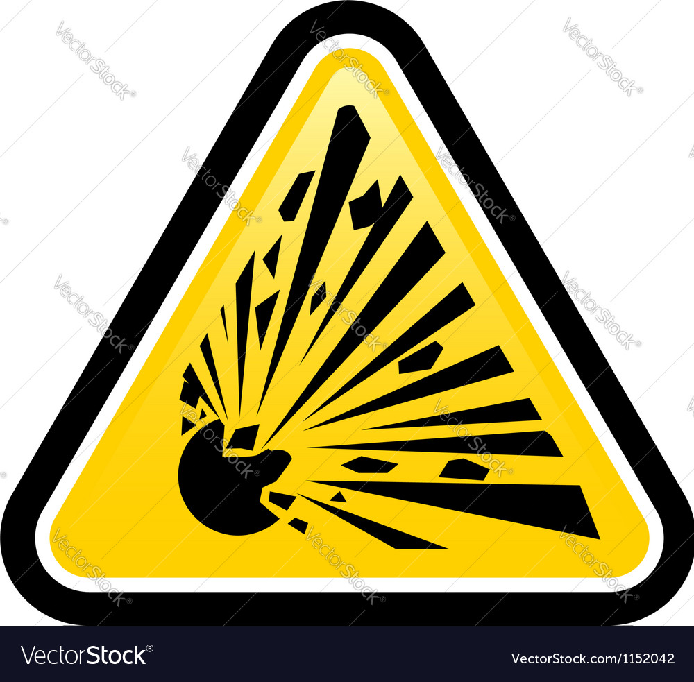Explosive hazard sign vector | Price: 1 Credit (USD $1)
