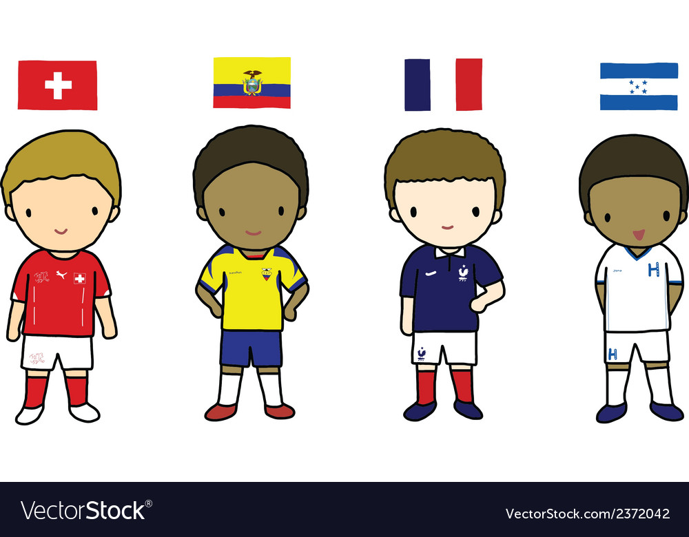 Fifa 2014 football players group e vector | Price: 1 Credit (USD $1)