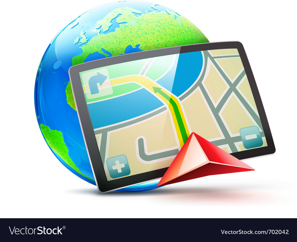 Global positioning system vector | Price: 3 Credit (USD $3)
