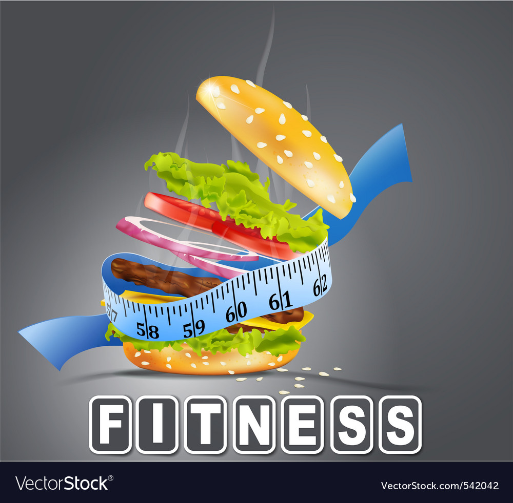 Hamburger fitness vector | Price: 1 Credit (USD $1)